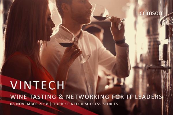 VINTECH wine tasting IT leaders networking Crimson